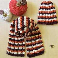 Virginia Tech Knit Hat, Handmade Chunky Knit Beanie, Maroon and Orange Knit Toque, Thick Knit Skullcap, Made to Order Fall Knitting, Chunky Knit Scarves, Orange Scarf, Virginia Tech, Tech Gifts, Knit Beanie, Knitted Hats, Gifts For Her, Winter Hats
