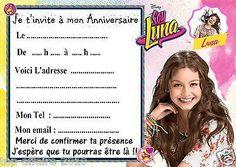 5 cartes invitations anniversaire Soy Luna 02 • EUR 2,99
