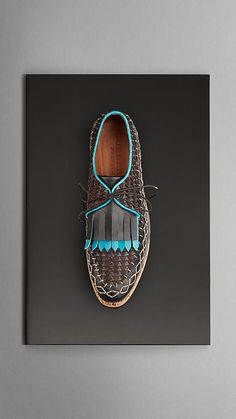 Cork Sole Leather Moccasins--Burberry