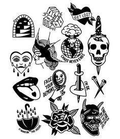 Flash Art Tattoos, Tattoo Flash Sheet, Body Art Tattoos, Ankle Tattoos, Sleeve Tattoos, Mini Tattoos, Cute Tattoos, Small Tattoos, Tattoos For Guys