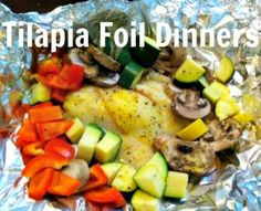 Must try fish instead of beef for tin foil camping dinners!