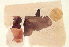 Arte Pintura Julius Bissier Abstraccionismo Aguarelas Entartete Kunst Degenerada