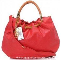 Michael Kors Skorpios Ring Tote Red Bag
