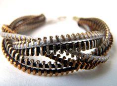 Braided Zipper Bracelet!