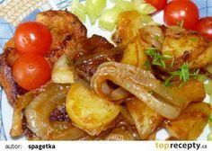 Masíčko s cibulí a bramborem v mikrovlnce recept - TopRecepty.cz