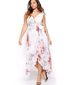 Sangria Wrap Maxi Dress