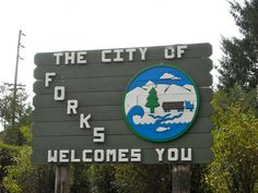 Forks WA - city welcome sign