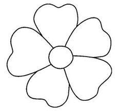 contorno de figuras simples   Dibujos para todo: Dibujos de flores