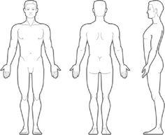 Human Body Anatomy Outline Printable for Kids - Health Token ...