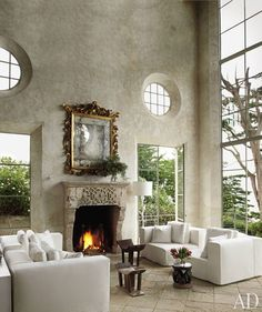 If these walls could talk, what would they say?  #HomeAndHearth   Image: Architectural Digest