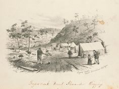 Great Meeting of Gold Diggers - Mt Alexander Goldfields near Bendigo - December 1851 Australian Painting, Teaching Geography, The Settlers, Broken Promises, Historic Houses, Gold Rush, Digger, Historical Pictures, Old Photos