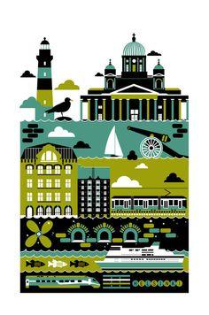 "Helsinki  by Koivo  Art Print / MINI (7"" x 10"")    $22.88"