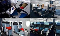 Air France unveils swanky new cabins for long-haul Travel News, New Travel, France Economy, Airplane Interior, Sliding Panels, Flat Bed, Air France, Business Class, Long Haul