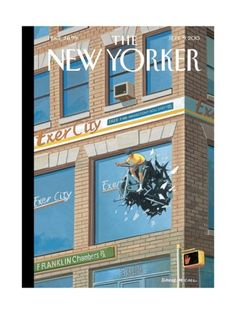 Exercity - The New Yorker Cover, September 2013 Poster Print by Bruce McCall at the Condé Nast Collection New Yorker Covers, The New Yorker, September 9, Magazine Art, Magazine Covers, Watercolor Paper, Cover Art, Vivid Colors, Find Art