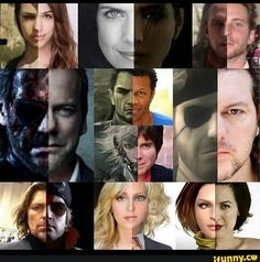 The voice actors and their characters