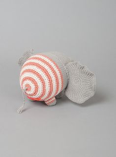 Couverture and The Garbstore - Childrens - Miga De Pan - Farnesio Medium Striped Elephant Rattle Toy