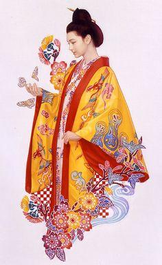 This page lists the works of Tsuyoshi Nagano, an active Tokyo Illustrators Society (TIS) member. Japanese Kimono, Japanese Art, Japanese Costume, Geisha, Okinawa Tattoo, Nagano, Okinawa Japan, Pin Up Art, Historical Clothing