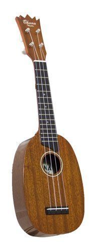 Ohana PK25G Pineapple Soprano with Solid Mahogany Top, Back, and Sides by Ohana. $159.00. OHANA PINEAPPLE SHAPED UKULELE. A popular form meets superior function with our solid mahogany pineapple soprano. Solid Mahogany means it is a solid performer, not a toy. A nice playing ukulele, no novelty model. As soon as Ohana ukuleles arrive in America they go through a detailed premium adjustment. Ready to play when delivered. Fitted cases are available.