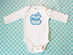 TOO cute!  Baby Boy's iPood Appliqued Onesie shirt Made to by Hugabugkids, $15.99