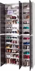 HMW shoe cabinet »Spazio«, width 101 cm, with handle-free look  #cabinet #handle #spazio #width Web Storage, Shoe Storage, Hallway Shelf, Shoe Cabinet, Getting Organized, Wall Design, Shoe Rack, Interior And Exterior, Sweet Home