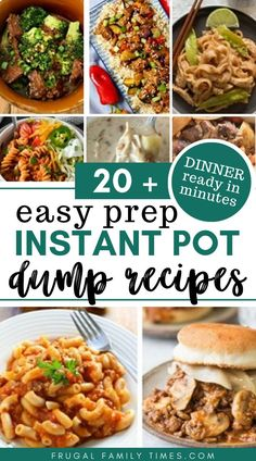 Super fast, easy and family friendly. Delicious Instant Pot dump recipes make dinner simple when life gets complicated. A roundup of pressure cooker dump recipes that are almost no or very… Instant Recipes, Instant Pot Dinner Recipes, Healthy Dinner Recipes, Healthy Food, Vegan Recipes, Dump Meals, Dump Recipes, Ninja Recipes, Drink Recipes