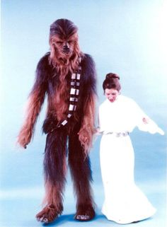 Chewie & Leia | Peter Mayhew & Carrie Fisher