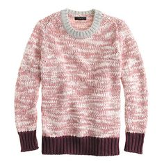 Marled colorblock sweater