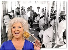 Paula Deen returns to public spotlight with appearance on back of public bus. SOURCE: TUCSON ENEMA NEWS