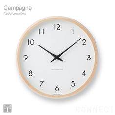 Lemnos Campagne Wall Clock on AHAlife Japan Design, Radios, Cool Clocks, Thing 1, Desk Clock, Gifts For Office, Country Furniture, Wood Construction, Home Accessories