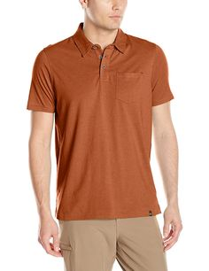 prAna Men's Marco Short Sleeve Polo Shirt *** Wow! I love this. Check it out now! : Camping clothes