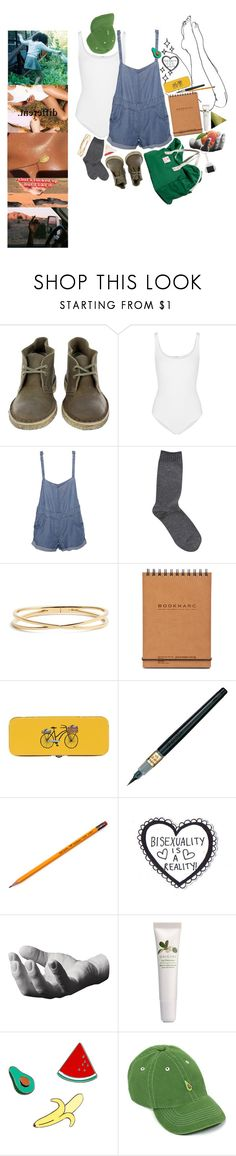 """sweat"" by lostatthestart ❤ liked on Polyvore featuring Clarks, Wolford, Stussy, Calvin Klein, Bag'n'Noun, Nadri, Danica Studio, Pentel, Harry Allen and Origins"