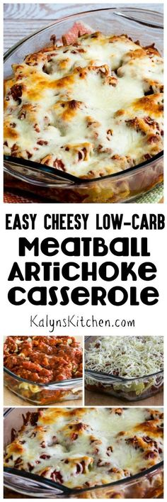 Seriously it doesn't get any easier than this Easy Cheesy Low-Carb Meatball Artichoke Casserole that features a couple of my favorite products from Costco! And this is a delicious combination as well. [found on KalynsKitchen.com]
