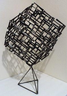 Cube sculpture created by artist Corey Ellis