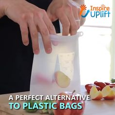Our Eco-Friendly, Reusable Food Storage Bags are the best, non-plastic bags in the world. Cooking Gadgets, Gadgets And Gizmos, Cooking Tools, Cooking Grill, Cooking Utensils, Cooking Time, Cool Kitchen Gadgets, Kitchen Hacks, Cool Kitchens