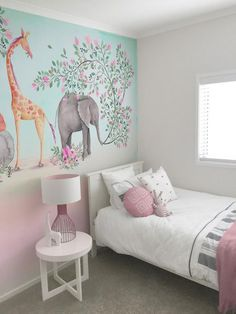 whimsical nursery bedroom mural backtothewall nz