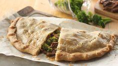 Broccoli Beef Calzone Pies