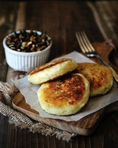 Vegan Potato Cakes stuffed with Mushrooms