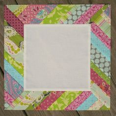 "Sun Rays Quilt Block - Looking for unique quilt block ideas to spice up your quilting? Try the Sun Rays Quilt Block! This free quilt block pattern acts like a picture frame for applique and embroidery. The striped border offsets a plain center square in this 12.5"" block."