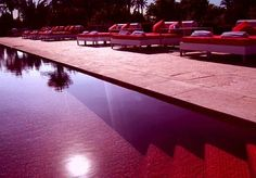 In Marrakesh, Morroco, there is an establishment called Murano Oriental Resort where the pool literally looks blazing hot as the sun is going down. The red as blood tiles and the Sunday brunch DJ attracts some of Europe's most fashion obsessed crowd and will be sure to raise the temperature.