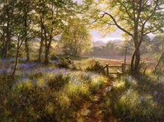 David Dipnall Bluebell woods and stile