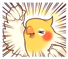 Coca Bird by ErA sticker Cute Cartoon Drawings, Bird Drawings, Animal Drawings, Funny Birds, Cute Birds, Chibi, Emoji Set, Animal Sketches, Cute Cartoon Wallpapers