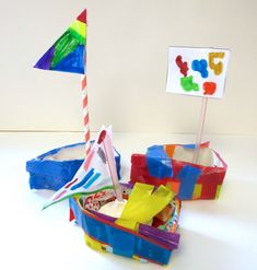 Sailboats from Milk Cartons- 1st grade – Art is Basic | An Elementary Art Blog