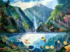 Tropical Lagoon by Edgardo F. Garcia