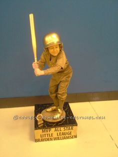 Cool Homemade Baseball Trophy Costume… Coolest Halloween Costume Contest
