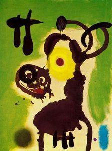 Mujer y pájaro 3 - (Joan Miro)