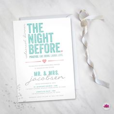 The Night Before Rehearsal Dinner Invitation by EventswithGrace