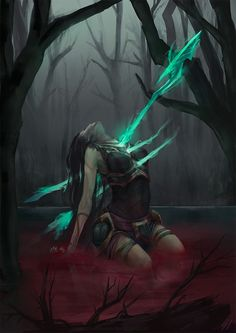 The Spear of Vengeance | fantasy art