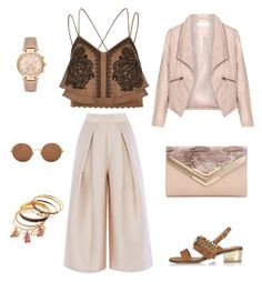 All Beige by nganguyen-iv on Polyvore featuring polyvore, fashion, style, River Island, Zizzi, ALDO, Michael Kors, Sunday Somewhere and clothing