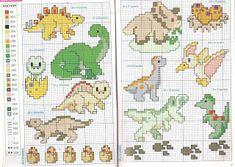 Jake's World: Dinosaurs - Cross Stitch - Part 1 123 Cross Stitch, Dragon Cross Stitch, Cross Stitch For Kids, Cross Stitch Heart, Cross Stitch Borders, Cross Stitch Animals, Cross Stitch Designs, Cross Stitching, Cross Stitch Embroidery