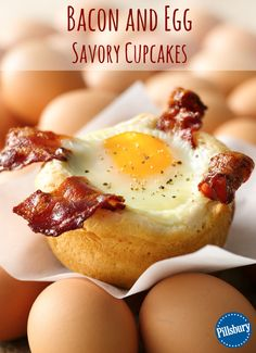 Combine all your favorite breakfast foods into one crave-worthy dish! Make these Bacon and Egg Savory using just three ingredients.